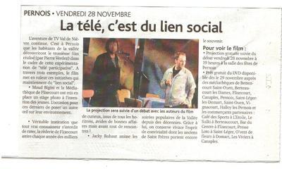 La t l c 39 est du lien social le 26 novembre le journal d - Le journal de la tele ...